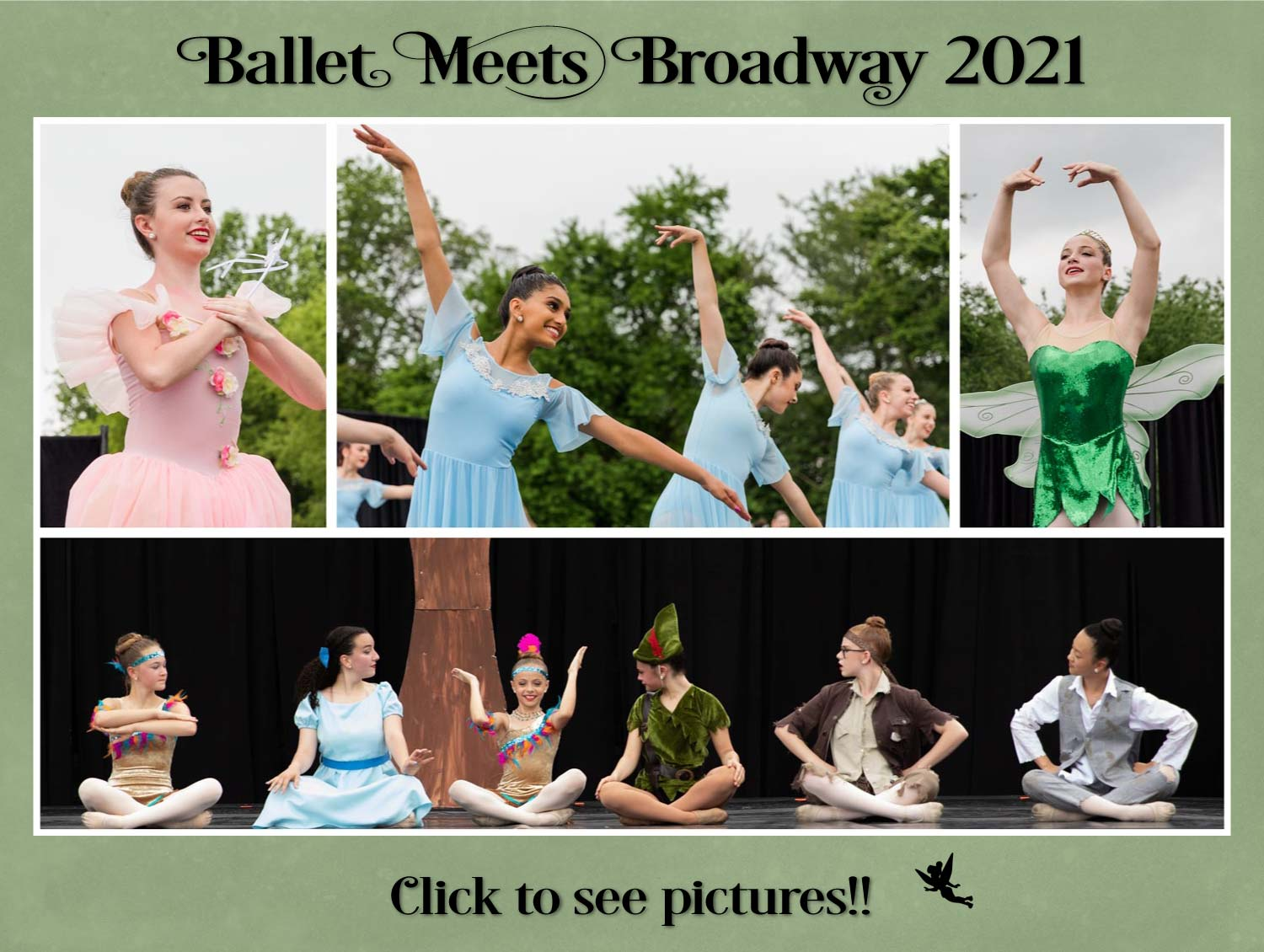 Ballet Meets Broadway 2021 Photo Collage